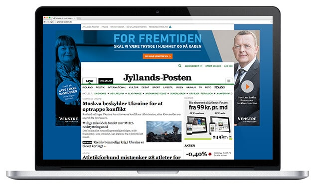 HTML5 produktion for Venstre - CPH digital ApS