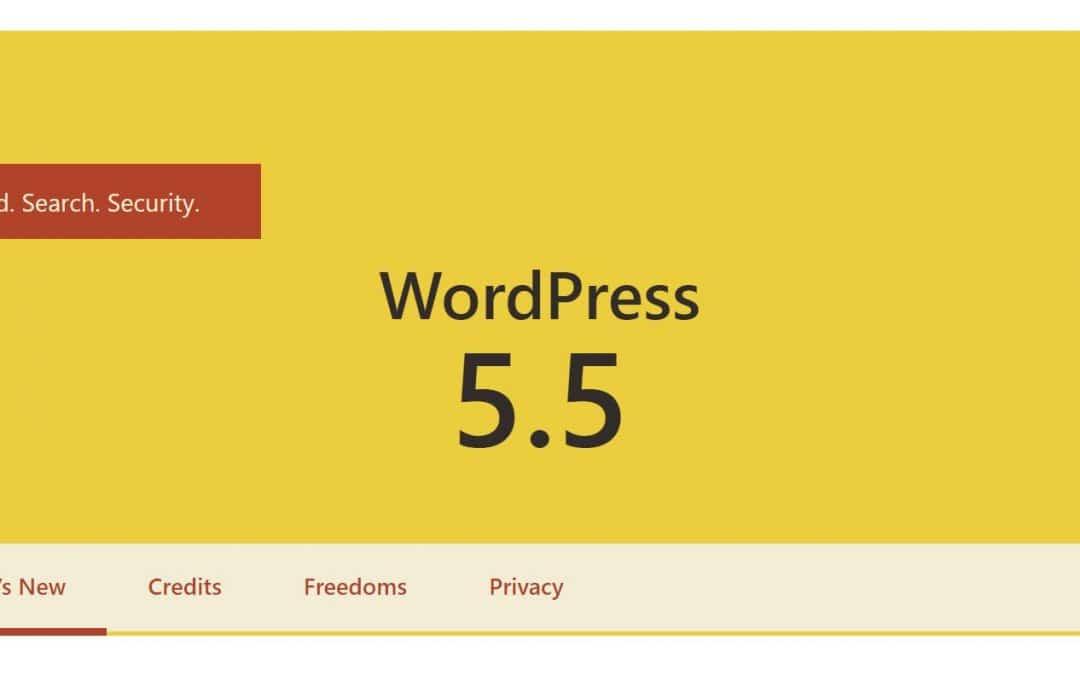 Nyt i WordPress 5.5